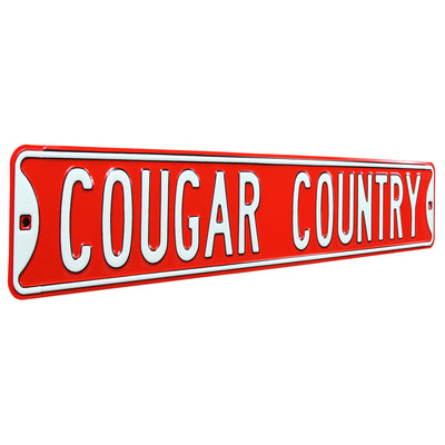 Houston Cougars Steel Street Sign-COUGAR COUNTRY