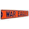 Auburn Tigers Steel Street Sign-WAR EAGLE