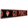 Oklahoma State Cowboys Steel Street Sign with Logo-GO POKES