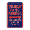 Arizona Wildcats Steel Parking Sign-Wildcats Parking