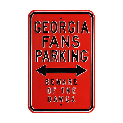 Georgia Bulldogs Steel Parking Sign-Beware of the Dawgs