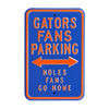 Florida Gators Steel Parking Sign-Noles Go Home