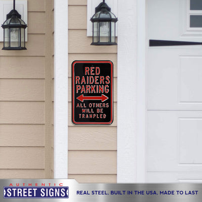 Texas Tech Red Raiders Steel Parking Sign-All Others Trampled