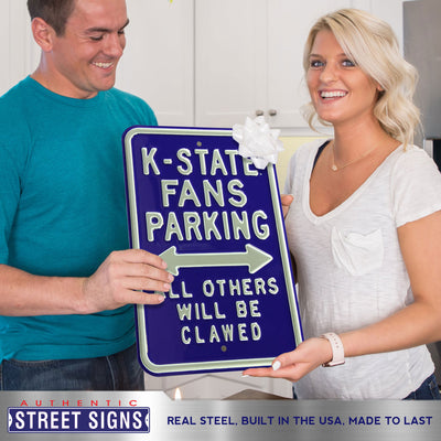 Kansas State Wildcats Steel Parking Sign-All Others Clawed