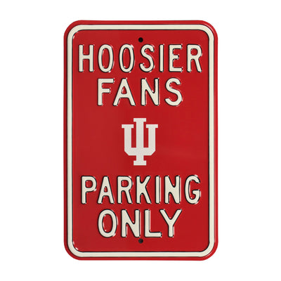 Indiana Hoosiers Steel Parking Sign-Hoosier Fans logo