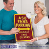 Arizona State Sun Devils Steel Parking Sign-Wildcats Go Home