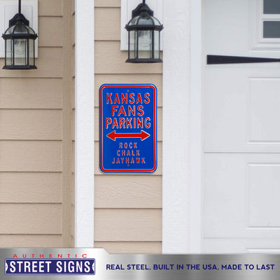 Kansas Jayhawks Steel Parking Sign-Rock Chalk