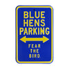 Delaware Blue Hens Steel Parking Sign-Blue Hens