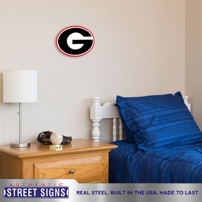 Georgia Bulldogs Laser Cut Steel Logo Spirit Size-Primary Logo