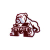 Mississippi State Bulldogs Laser Cut Steel Logo Spirit Size-Dog Over M Logo