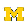 Michigan Wolverines Laser Cut Steel Logo Spirit Size-Primary Logo Yellow