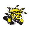 Wichita State Shockers Laser Cut Steel Logo Spirit Size-Primary Logo