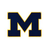 Michigan Wolverines Laser Cut Steel Logo Spirit Size-Primary Logo Navy