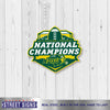 North Dakota State Laser Cut Steel Logo Spirit Size-2017 Champs