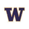 Washington Huskies Laser Cut Steel Logo Spirit Size-Primary Logo