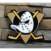 Anaheim Ducks Mighty Ducks STEEL 12 NHL Inch Logo Sign