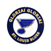 Gloria! Gloria!  St. Louis Blues STEEL 12 Inch Logo Sign