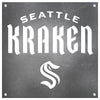 Seattle Kraken Laser Cut Raw Steel Sign Statement Size-Wordmark Logo