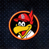 MLB St. Louis Cardinals Metal Super Magnet-Fredbird Circle