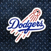 MLB Los Angeles Dodgers Metal Super Magnet-Primary Cut Out