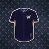 MLB Milwaukee Brewers Metal Super Magnet- Navy Jersey