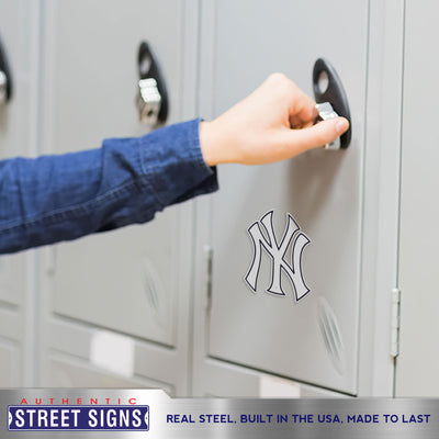 New York Yankees Laser Cut Logo Steel Magnet-NY Cap Logo