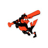 Baltimore Orioles Laser Cut Logo Steel Magnet-Swinging Bird