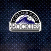 MLB Colorado Rockies Metal Super Magnet