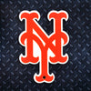 MLB New York Mets Metal Super Magnet-Orange NY