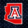 NCAA Arizona Wildcats Metal Super Magnet- State Mark 34