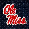 NCAA Ole Miss Rebels Metal Super Magnet-Script