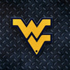 NCAA West Virginia Mountaineers Metal Super Magnet- Gold w/Blue Border