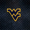 NCAA West Virginia Mountaineers Metal Super Magnet-Blue w/Gold Border