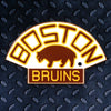 NHL Boston Bruins Metal Super Magnet-Vintage
