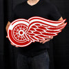 LARGE Detroit Red Wings STEEL Logo Sign