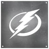 Tampa Bay Lightning Laser Cut Raw Steel Sign Statement Size-Primary Logo