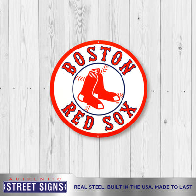 Boston Red Sox Laser Cut Steel Logo Spirit Size-Circle Logo