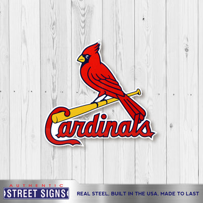 St Louis Cardinals Laser Cut Steel Logo Spirit Size-Bird on Bat