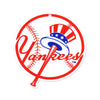 New York Yankees Laser Cut Steel Logo Spirit Size-Top Hat Logo