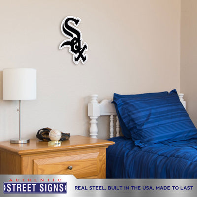 Chicago White Sox Laser Cut Steel Logo Spirit Size-Primary Logo