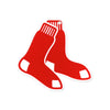 Boston Red Sox Laser Cut Steel Logo Spirit Size- Red Sox Stockings