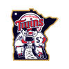 Minnesota Twins Minnie And Paul STEEL 12 Inch MLB Logo Sign