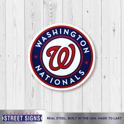 Washington Nationals Laser Cut Steel Logo Spirit Size-Circle Logo