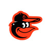 Baltimore Orioles Laser Cut Steel Logo Spirit Size-Bird Head