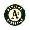 Oakland As STEEL 12 Inch MLB Logo Sign