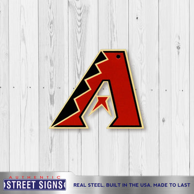 Arizona Diamondbacks Laser Cut Steel Logo Spirit Size-A Logo