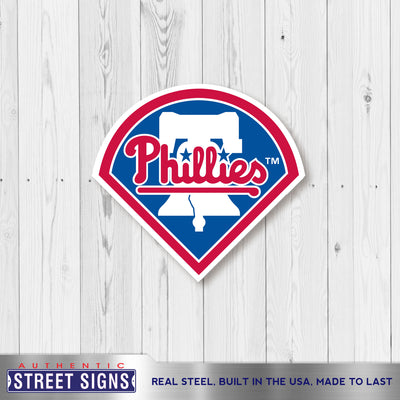 Philadelphia Phillies Laser Cut Steel Logo Spirit Size-Primary Logo