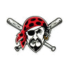 Pittsburgh Pirates Laser Cut Steel Logo Spirit Size-Pirate Head