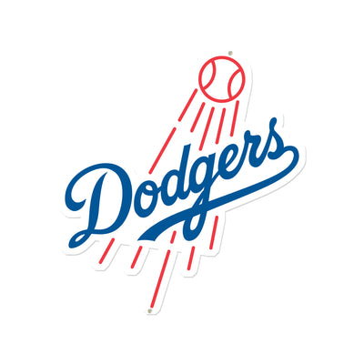 Los Angeles Dodgers Primary Cutout STEEL 12 Inch MLB Logo Sign