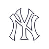 New York Yankees Laser Cut Steel Logo Spirit Size-NY Logo
